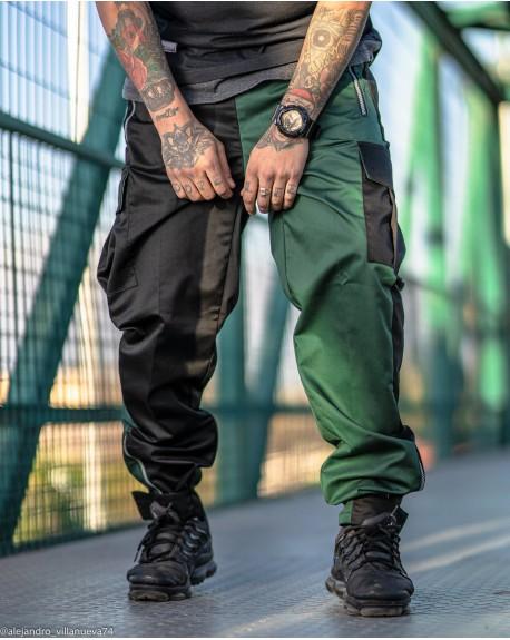 Pantalon Cargo C11 Fusion Black Green Fabricación Nacional