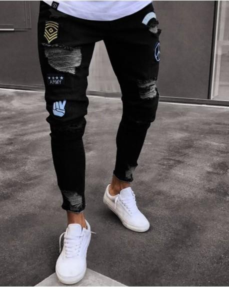 Jeans Parche Manito negro 1890